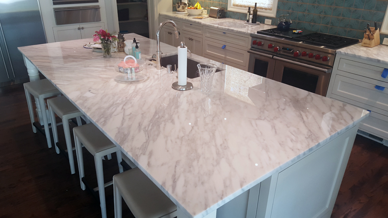 White Country Kitchen Countertops