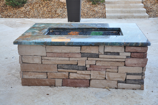 Add a Granite Cap to Your Fire Pit
