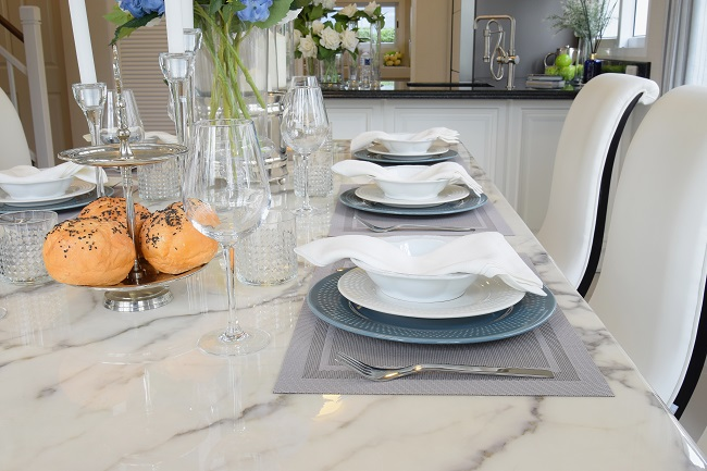 Entertain Your Guests With an Elegant Marble Table