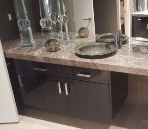 Amber Brown Marble Counter